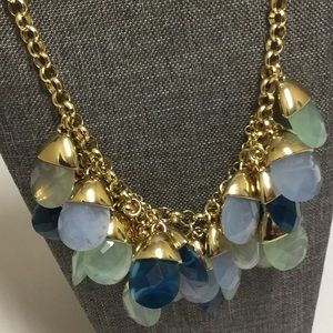 TALBOTS Chunky Statement Necklace, Blue & Green